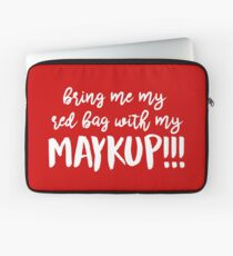 Red Bag with Maykup!!! Laptop Sleeve