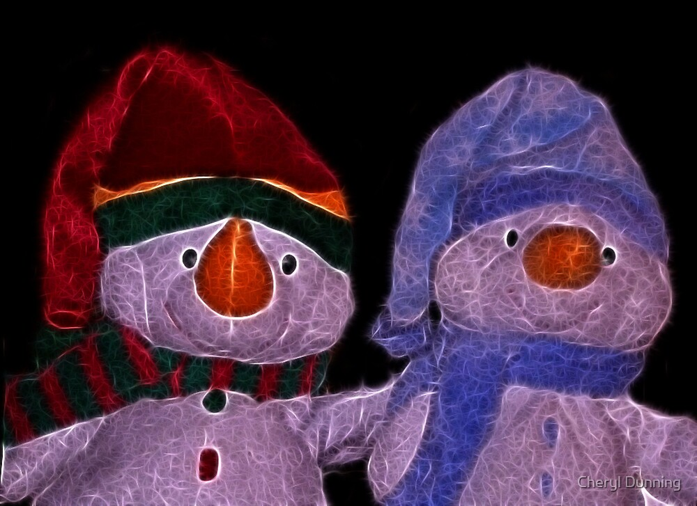 snow friends by Cheryl Dunning
