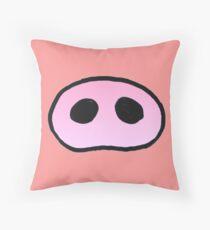 Pig's snout Throw Pillow