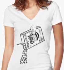 Peep Show - Expensive Crunchy Nut Women's Fitted V-Neck T-Shirt