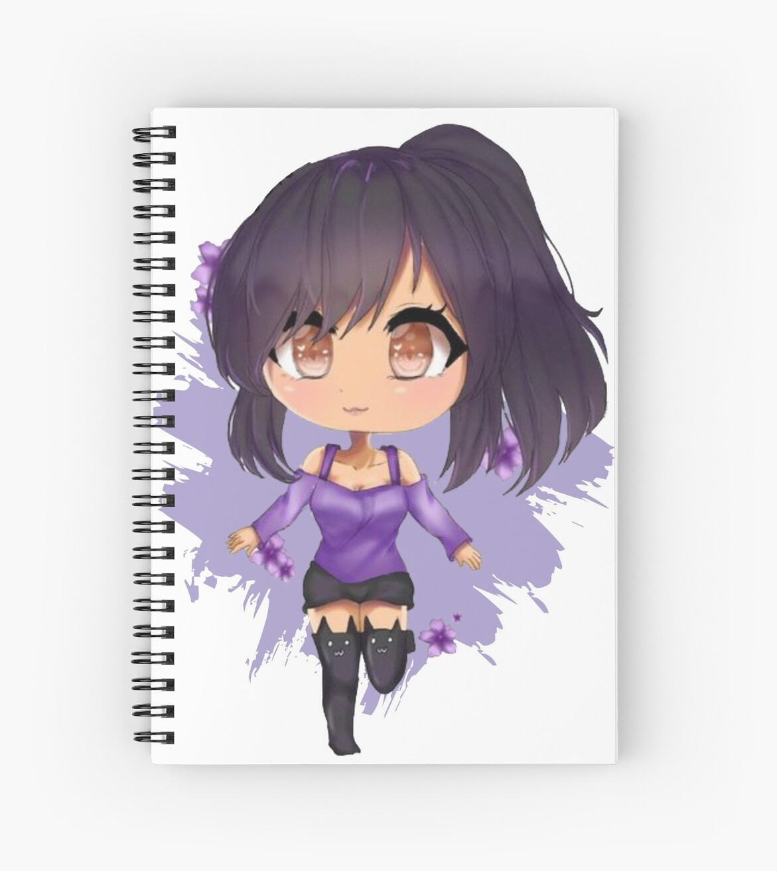 "aphmau - kawaii anime"" spiral notebooksmariobasoji | redbubble"