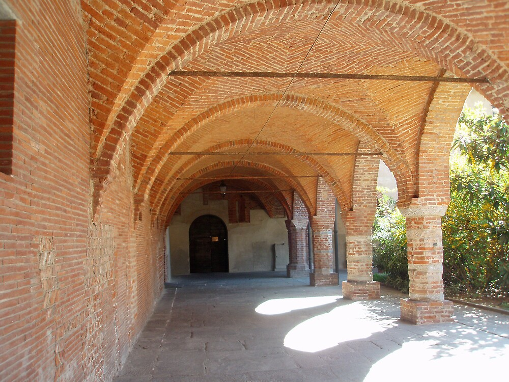 Novara - The romanesque cloister of the Cathedral by presbi
