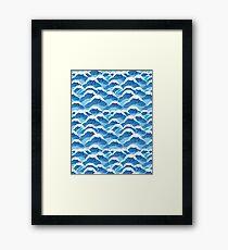 sea wave pattern Framed Print