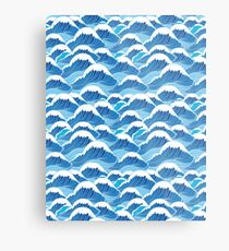 sea wave pattern Metal Print