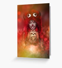 Pretty Little Monster  Greeting Card