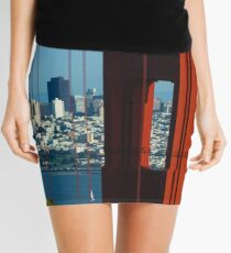 Iconic San Fransisco - Downtown Framed by Red Steel Mini Skirt