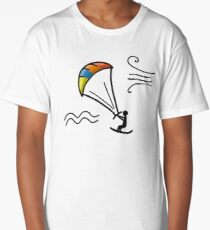 Kiteboarding, sketch for your design Long T-Shirt