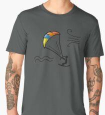 Kiteboarding, sketch for your design Men's Premium T-Shirt