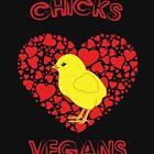 Küken lieben Vegans lustiges vegetarisches von ViralMode