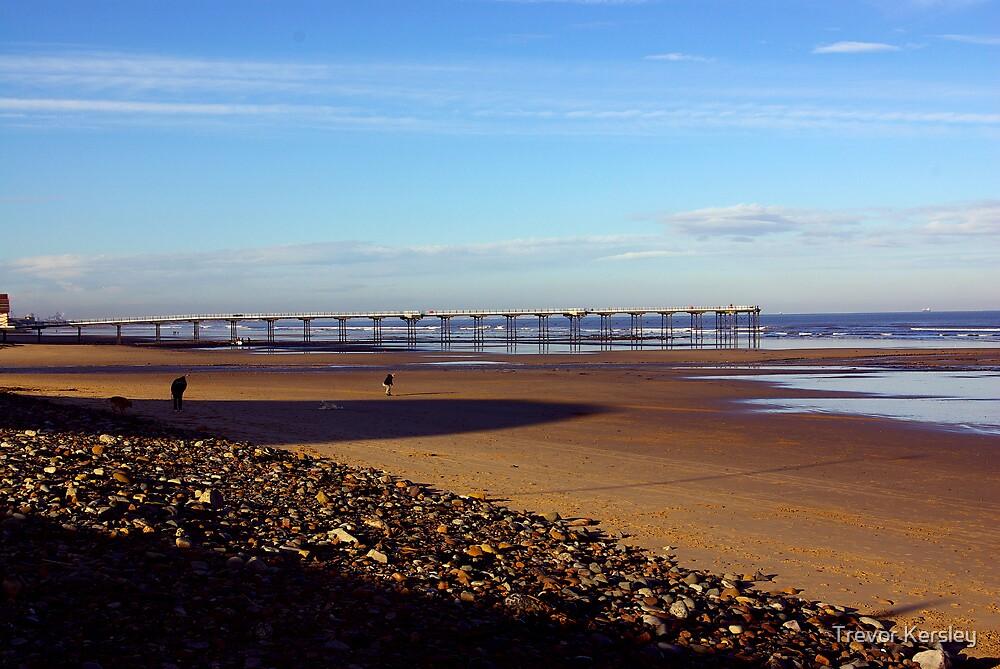 The Beach Saltburn by Trevor Kersley