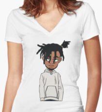 Camiseta entallada de cuello en V Smokepurpp