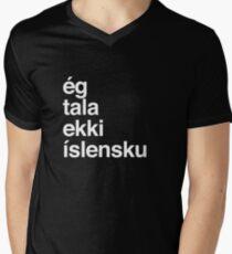 I Don't Speak Icelandic Iceland Men's V-Neck T-Shirt