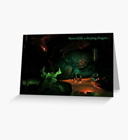 Never Tickle A Sleeping Dragon Greeting Card