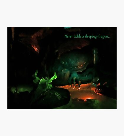 Never Tickle A Sleeping Dragon Photographic Print