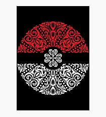 Floral Pokeball Photographic Print