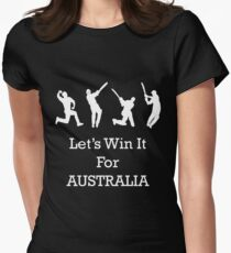 Let's Win It for Australia! Womens Fitted T-Shirt