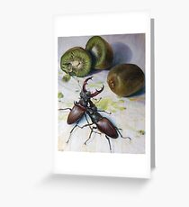 """ Kiwis and Stag Beetles ( Struggle for Constancy)"" Greeting Card"