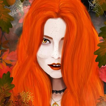 Autumn Witch by MaureenMarlowe