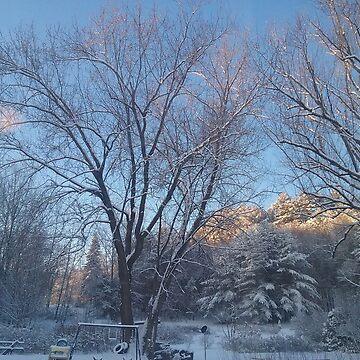 Snowy Yard by KaySlominator