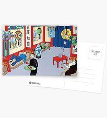 Tintin in Asian opium den Postcards