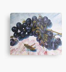 Grapes and Yellow Jackets Metal Print