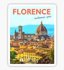 Florence, Italy, vintage travel poster Sticker