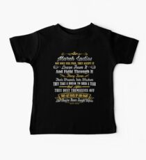 March Birthday Gifts March Lady Fights Through The Pain Kids Clothes