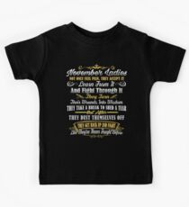 November Birthday Gifts November Lady Fights Through The Pain Kids Clothes