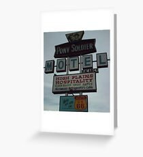 Original Motel Sign Tucumcari Greeting Card
