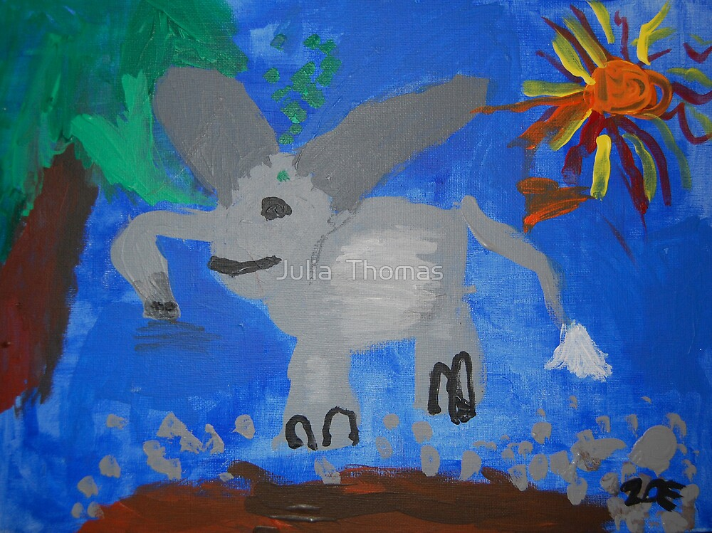 Elephant by Zoe Thomas age 5 by Julia  Thomas