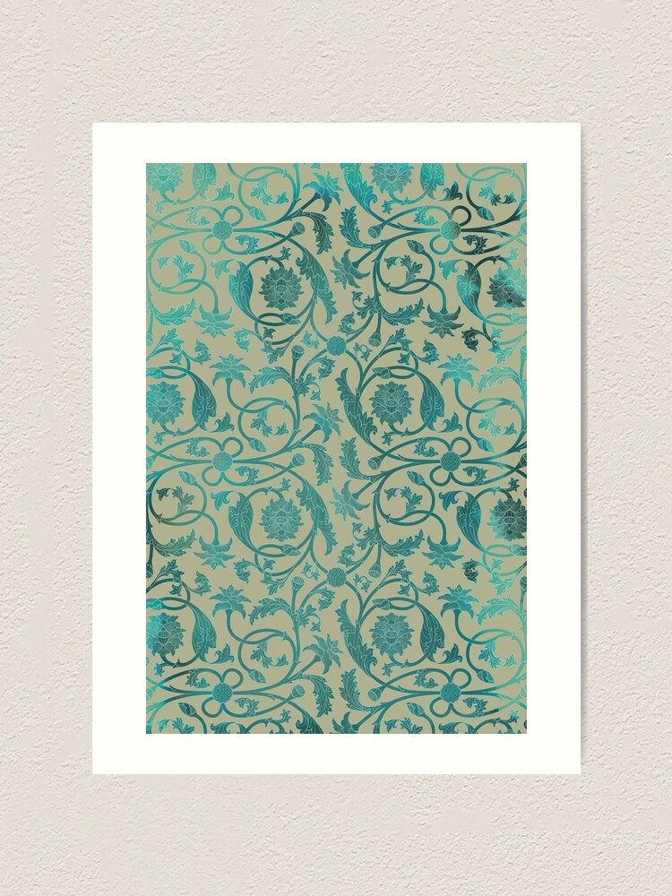 Alternate view of Blue Lotus Pattern  Art Print
