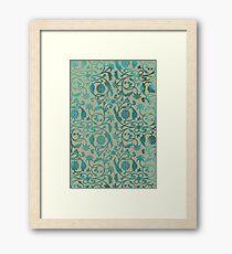 Blue Lotus Pattern  Framed Print