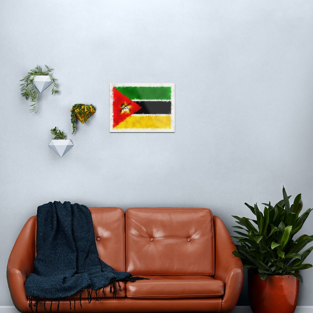 Mozambique Flag Reworked No. 66, Series 5 Metal Print