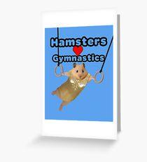 Hamsters Love Gymnastics Greeting Card