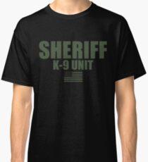 Sheriff K9 Unit OD Green Uniform Classic T-Shirt