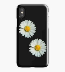 Two white daisies iPhone Case/Skin