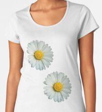 Two white daisies Women's Premium T-Shirt