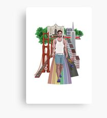 Handsome Man of San-Francisco Canvas Print