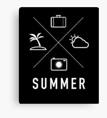 Summer - Coconut Tree, Camera, Shots, Clouds, Baggage, Water, Summer, Fun, Sun, Vacation, Holiday, Friends, Sports, Awesome Canvas Print