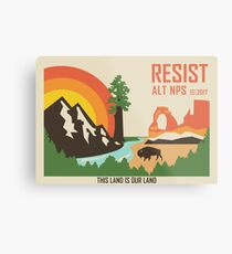 Support ALT NPS Metal Print