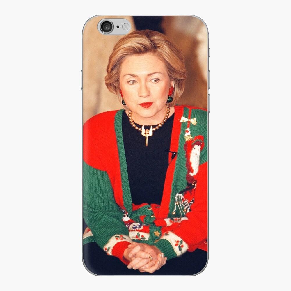 Jersey de Navidad de Hillary Clinton Vinilo para iPhone