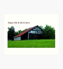 ROCK CITY  Art Print