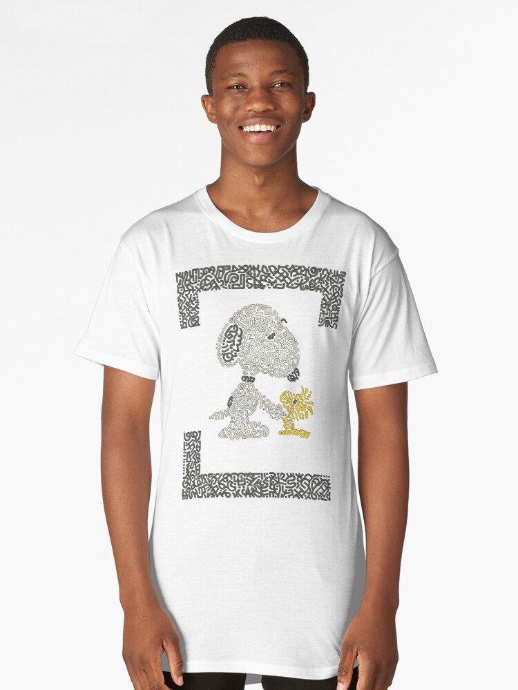 Snoopy & Woodstock Long T-Shirt Front