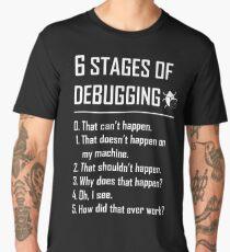 Six 6 Stages of Debugging Funny shirt for programmer, developer, coder Men's Premium T-Shirt