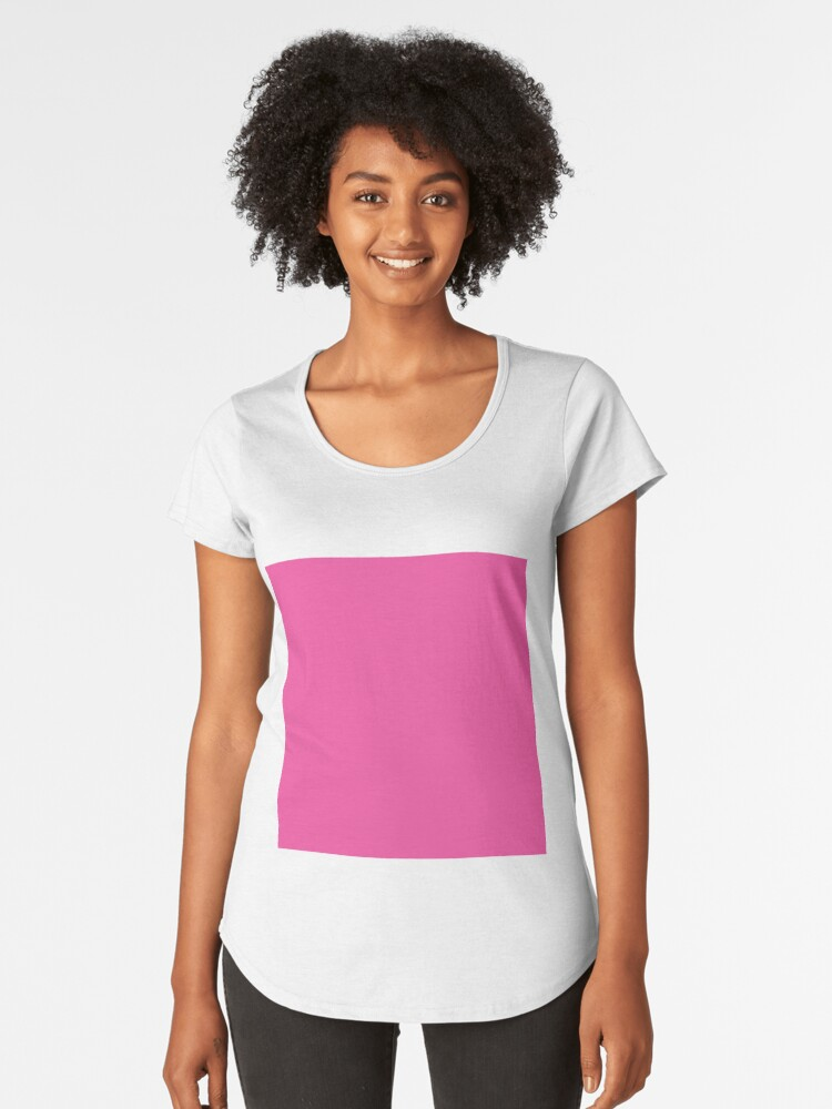 7355406747 'Bright Pink / Rose Bonbon Solid Color' Women's Premium T-Shirt by  patternplaten