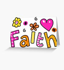 Faith Doodle Text Expression Greeting Card
