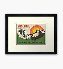 Lámina enmarcada Parque Nacional de Yosemite