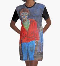 Watercolour zombies Graphic T-Shirt Dress