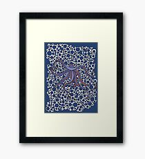 Octopus and Bubbles Framed Print