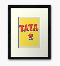 BT21 Tata Framed Print